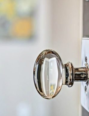 Crystal Glass Door Knob